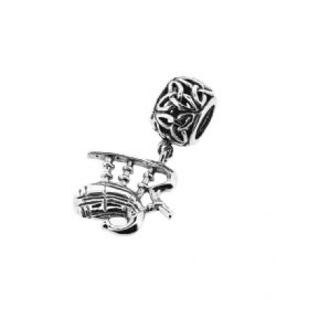 Scottish Bagpipes Silver Bead Charm 1111